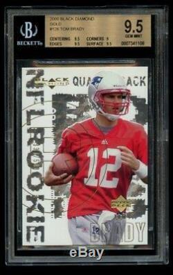 2000 Ud Black Diamond Tom Brady Rookie / 500 Or Bgs 9,5 Gem Mint Rc Patriots