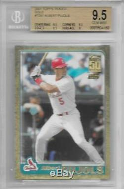 2001 Albert Pujols Traded Or # Topps T247 Rc- Bgs 9,5 Gem Mint. # 1736/2001
