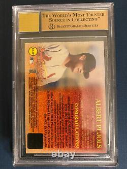 2001 Bowman Albert Pujols Rookie Card Autograph Sp Auto Bgs 9,5 Gem Mint 10