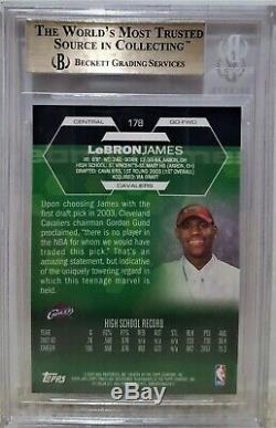 2002-03 Finest Lebron James Topps Rc # 178 Bgs 9.5 Gem Mint La Lakers Rookie