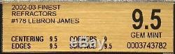 2002-03 Lebron James Finest Xrc Refractor Topps Rc Rookie / 250 Bgs 9,5 Gem Mint