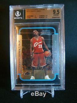 2003-04 Lebron James Bowman Chrome # 123 Rookie Rc Cavaliers Bgs 9,5 Gem Mint