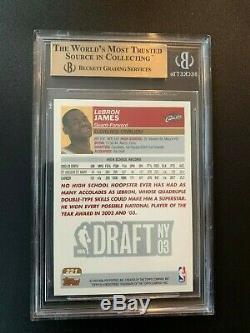 2003-04 Lebron James Carte Topps Rookie # 221 Cavs Rc Graded Bgs 9,5 Gem Mint