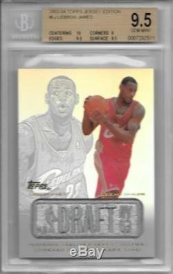 2003-04 Lebron James Jersey Édition Rc Topps. Bgs 9,5 Gem Mint Avec 10 Sous
