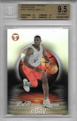2003-04 Lebron James Pristine Refractor Rc- Topps Bgs 9,5 Gem Mint. # 451/499