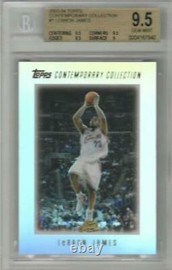 2003-04 Lebron James Topps Contemporary Collection Rc. Bgs 9.5 Menthe Gemme