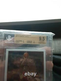 2003-04 Topps Chrome #111 Lebron James Rc Rookie Bgs 9.5 With10 Psa 10 Gem Mint