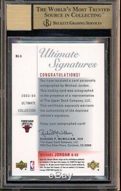 2003-04 U. D. Ultimate Collection Michael Jordan Hof Bgs 9.5 Gem Mint Avec 10 Auto