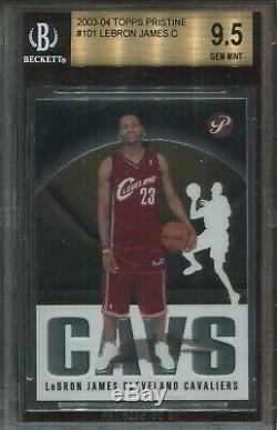 2003 101 # Pristine Topps Lebron James Rookie Bgs 9,5 Gem Mint (psa 10)