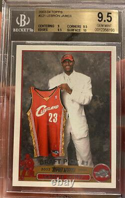 2003-2004 Topps Lebron James Rookie #221 Cavs Gem Mint 9.5 Bgs 10 Surface Psa