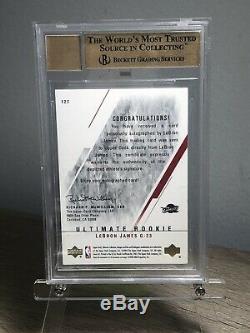 2003-2004 Ultimate Collection Lebron James Auto Bgs 9.5 Gem Mint / 250 Rc Recrue