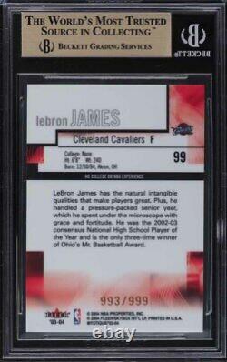 2003 Fleer Mystique Lebron James Rookie Rc 999 #99 Bgs 9.5 Gem Mint