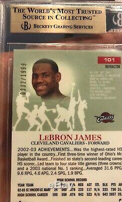 2003 Lebron James Rookie Pristine Refractor # Topps 332/1999 Gem Mint 9.5 Bgs 10