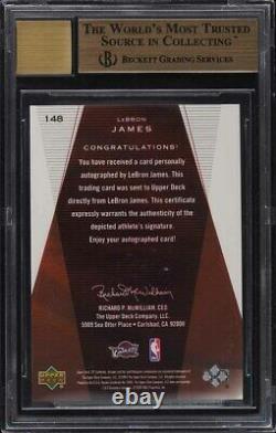 2003 Sp Authentic Lebron James Rookie Rc Auto /500 #148 Bgs 9.5 Gem Mint