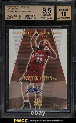 2003 Sp Authentic Limited Lebron James Rookie Rc Auto 6/50 #148 Bgs 9.5 Gem Mint