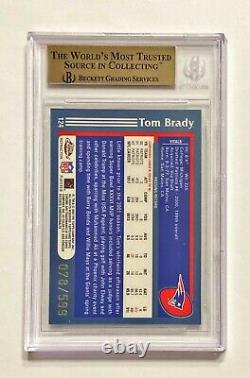 2003 Topps Chrome Tom Brady #78/599 Refracteur Noir Bgs 9.5 Menthe Gemme! Pop 9