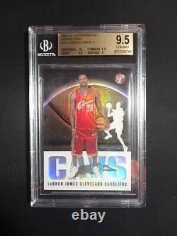 2003 Topps Pristine Lebron James Rookie Réfractaire #101 Bgs Gem Menthe 9,5 243/1999