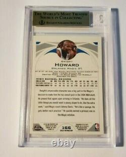 2004-05 Dwight Howard Rc Topps Réfractaire Or Chrome #166 Bgs Gem Mint 9,5