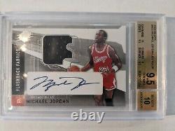 2004-05 Upper Deck Spx Michael Jordan Autograph Bgs 9.5 Gem Mint 10 Jersey Auto