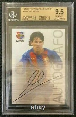 2004 Panini Lionel Messi Barca Campeon Rookie Rc Bgs 9.5 Gem Menthe