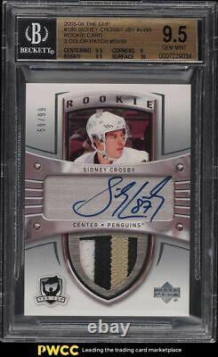 2005-06 La Coupe Sidney Crosby Rookie Patch Auto /99 #180 Bgs 9.5 Gem Mint