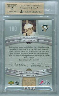2005-06 La Coupe Sidney Crosby Rookie Rc 8/99 Bgs 9.5 Gem Mint! Patch Utilisé Par Le Jeu