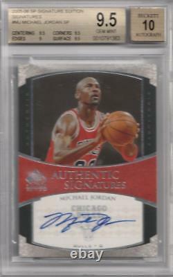2005-06 Michael Jordan Sp Signature Edition Automatique. Bgs 9,5 Gem Mint Auto Avec 10