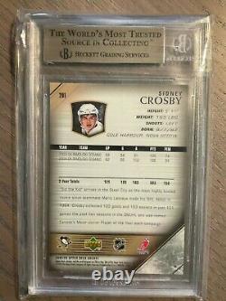 2005-06 Sidney Crosby Upper Deck Young Guns #201 Rookie Card Rc Bgs 9.5 Gem Mint