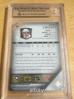 2005 Upper Deck Young Guns #201 Sidney Crosby Rookie Rc Gem Mint Bgs 9.5