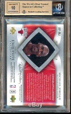 2006-07 Collection Exquis Michael Jordan Patch Auto / 100 Bgs 9.5 Gem Mint