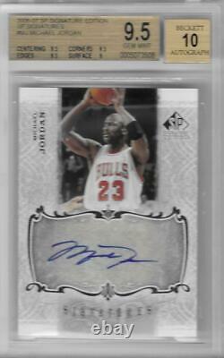 2006-07 Michael Jordan Sp Signature Edition Auto- Bgs 9.5 Gem Mint Avec 10 Auto