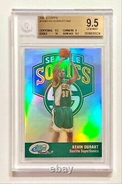 2007-08 Etopps Kevin Durant #1104/1499 Refractor Rookie Rc Bgs 9.5 Gem Mint