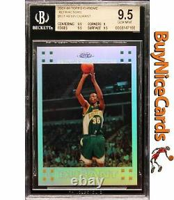 2007-08 Kevin Durant Topps Chrome Refractor Rc Rookie /1499 Bgs 9.5 Gem Menthe