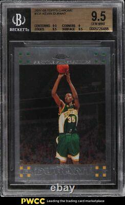 2007 Topps Chrome Kevin Durant Rookie Rc #131 Bgs 9.5 Gem Mint