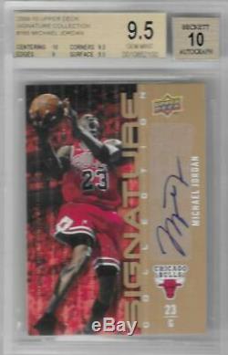 2009-10 Michael Jordan Upper Deck Signature Auto Collection. Bgs 9,5 Gem Mint