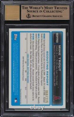 2009 Bowman Chrome Xfractor Mike Trout Rookie Rc Auto/225 Bgs 9.5 Gem Mint