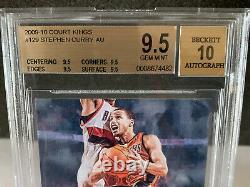 2009 Stephen Curry Rookie Auto Juridictions /649 Bgs 9,5 X4 Avec 10 Auto Gem Mint