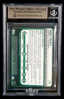 2011 Bowman Chrome # 175 Mike Trout Rookie Rc Bgs 9.5 Gem Mint Carte De Base-ball