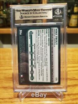 2011 Bowman Chrome # 175 Truite Mike Rc Rookie Les Anges Bgs 9.5 Gem Gem + Mint True