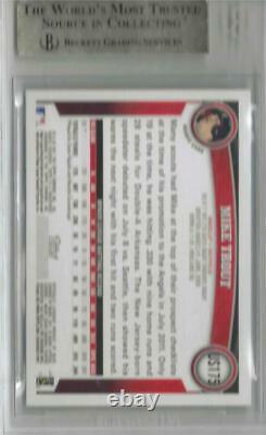 2011 Mike Trout Topps Mise À Jour Diamond Anniversary Rc. Bgs 9.5 Gem Mint Avec 10 Sous-marins