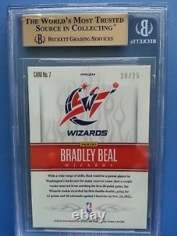 2012-13 Bradley Beal Sélectionnez Blanc Chaud Prizm Rookie Rc Sp # 20/25 Bgs 9.5 Gem Monnaie