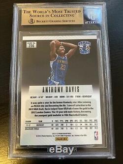 2012-13 Panini Prizm # 236 Anthony Davis Rc Bgs 9,5 Gem Mint Lakers Low Pop