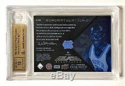 2012-13 Ud Exquis Michael Jordan Jersey # 23/75 Noir Auto Bgs 9.5 / 10 Gem Mint