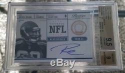2012 Prestige Russell Wilson NFL Passeport Auto Rc Sp Bgs 9.5 / 9 Gem Mint Hot