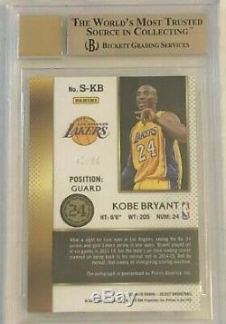 2014-15 Select Signatures Kobe Bryant # 1 Autograph Bgs 9,5 Gem Mint 10 Auto # / 60