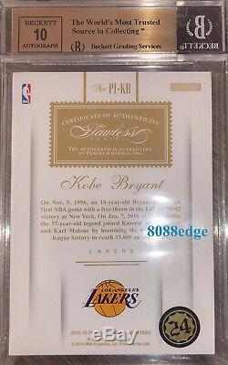 2015-16 Flawless Premium Encre Auto Kobe Bryant # 9/25 Autograph Bgs 9,5 Gem Mint