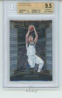 2018-19 Panini Select Concours Luka Doncic Rookie Card Rc Bgs 9.5 Gem Mint