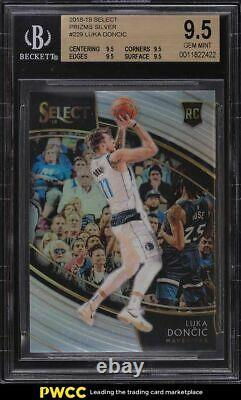 2018 Select Courtside Silver Prizms Luka Doncic Rookie Rc #229 Bgs 9.5 Gem Mint