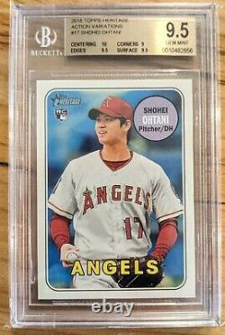 2018 Topps Heritage 17 Shohei Ohtani Action Sp Rc Rookie Bgs 9.5 Gem Mint