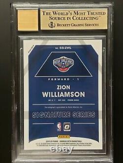 2019-20 Zion Williamson Optic Holo Argent Prizm Rc Auto Gem Mint Bgs 9.5